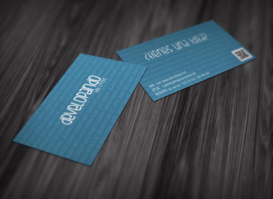 mockup tarjetas visita