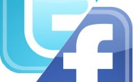 Twitter-Facebook logos